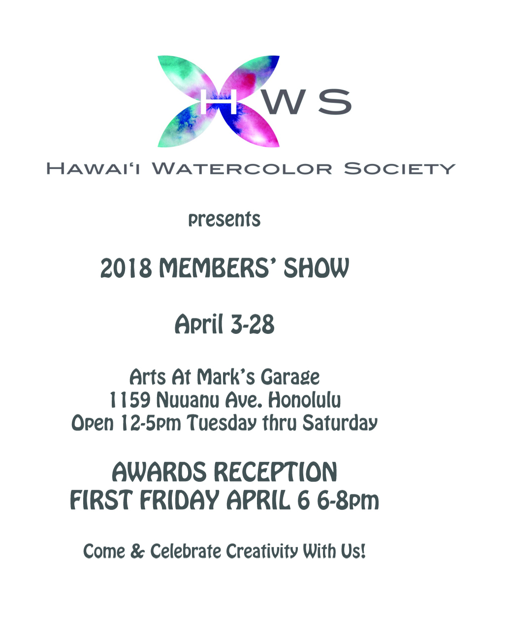 First Friday April 2018